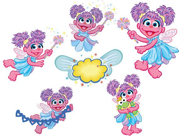 Instant Download Sesame Street Abby Cadabby Clip Art Sesame Street Abby Cadabby Party Elmo Birthday