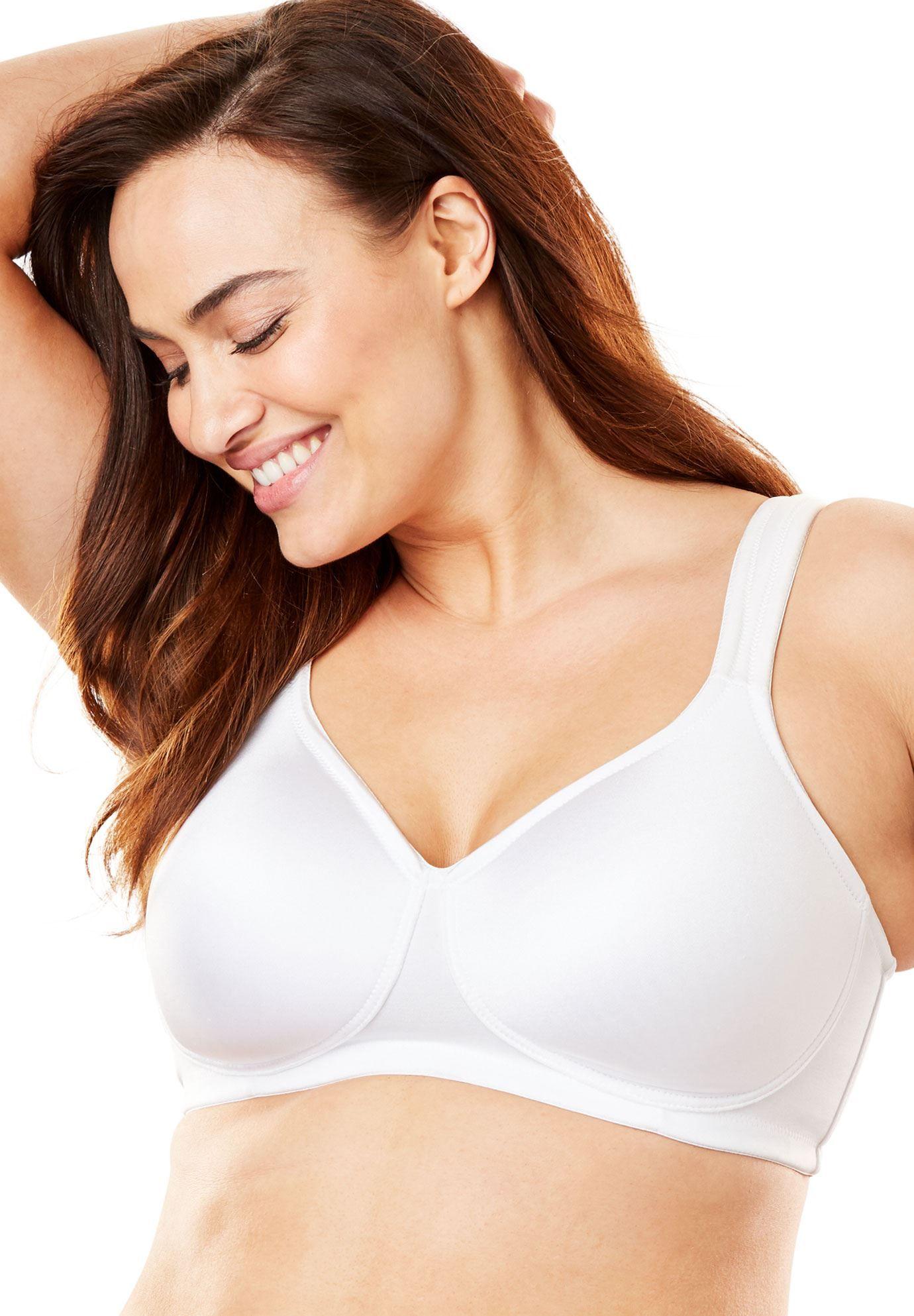 09304e2d15a Microfiber Wireless T-Shirt Bra by Comfort Choice - Women s Plus Size  Clothing