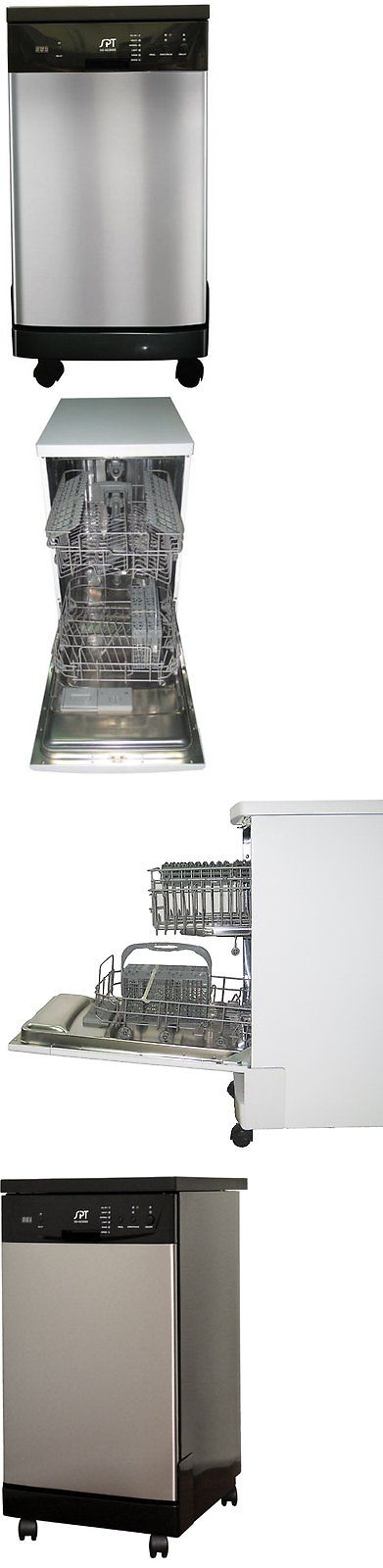 Dishwashers 116023: Spt 18 Inch Energy Star Portable Dishwasher Stainless  Steel Sd 9241Ss New