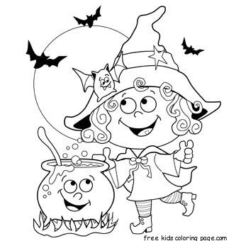 free halloween coloring pages | halloween witch coloring pages ...