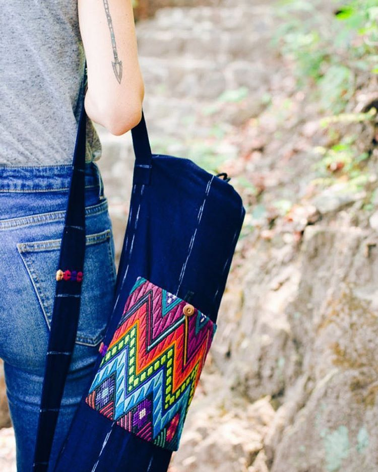 Ethically made yoga mat bag by @Hiptipico. Photoshoot in San Marcos ...