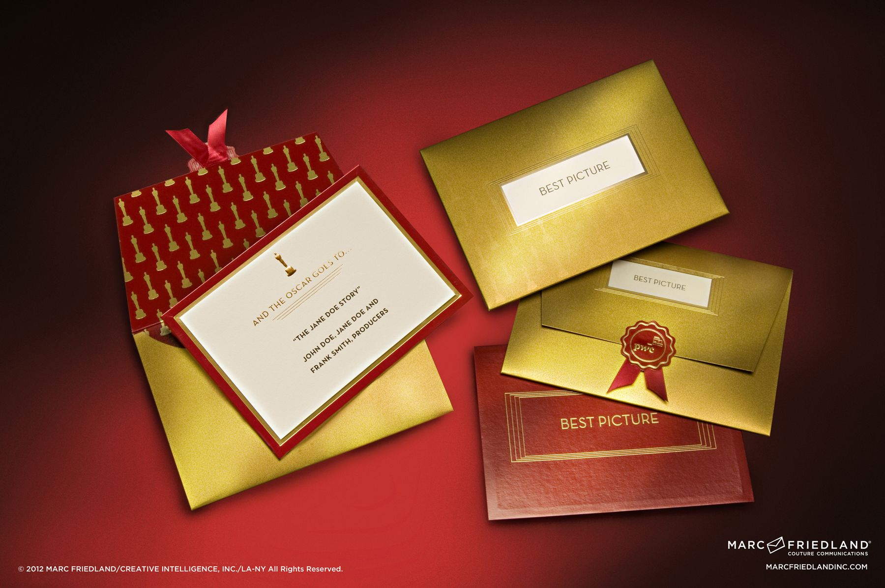 Replica Of The Envelope In Invitation Form Evitepostmark Oscars