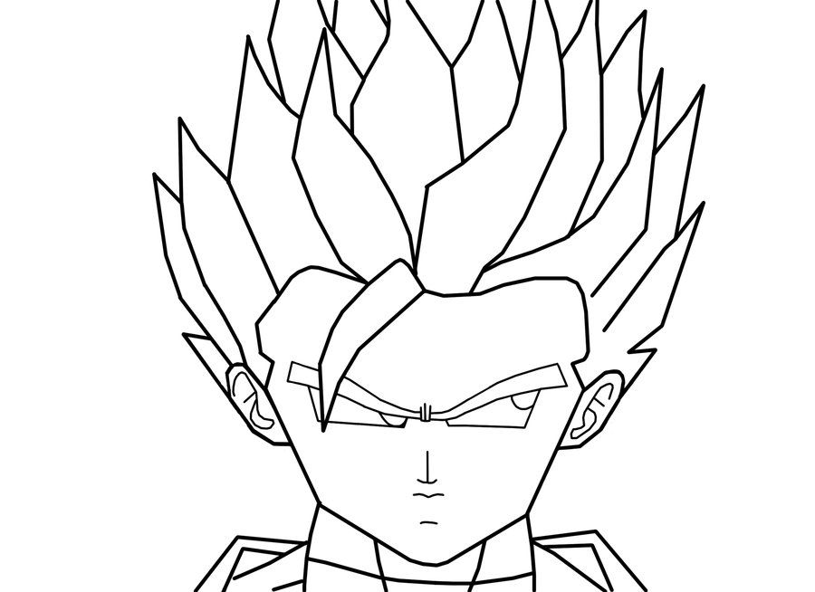 Dragon Ball Z Coloring Pages Super Saiyan Gohan