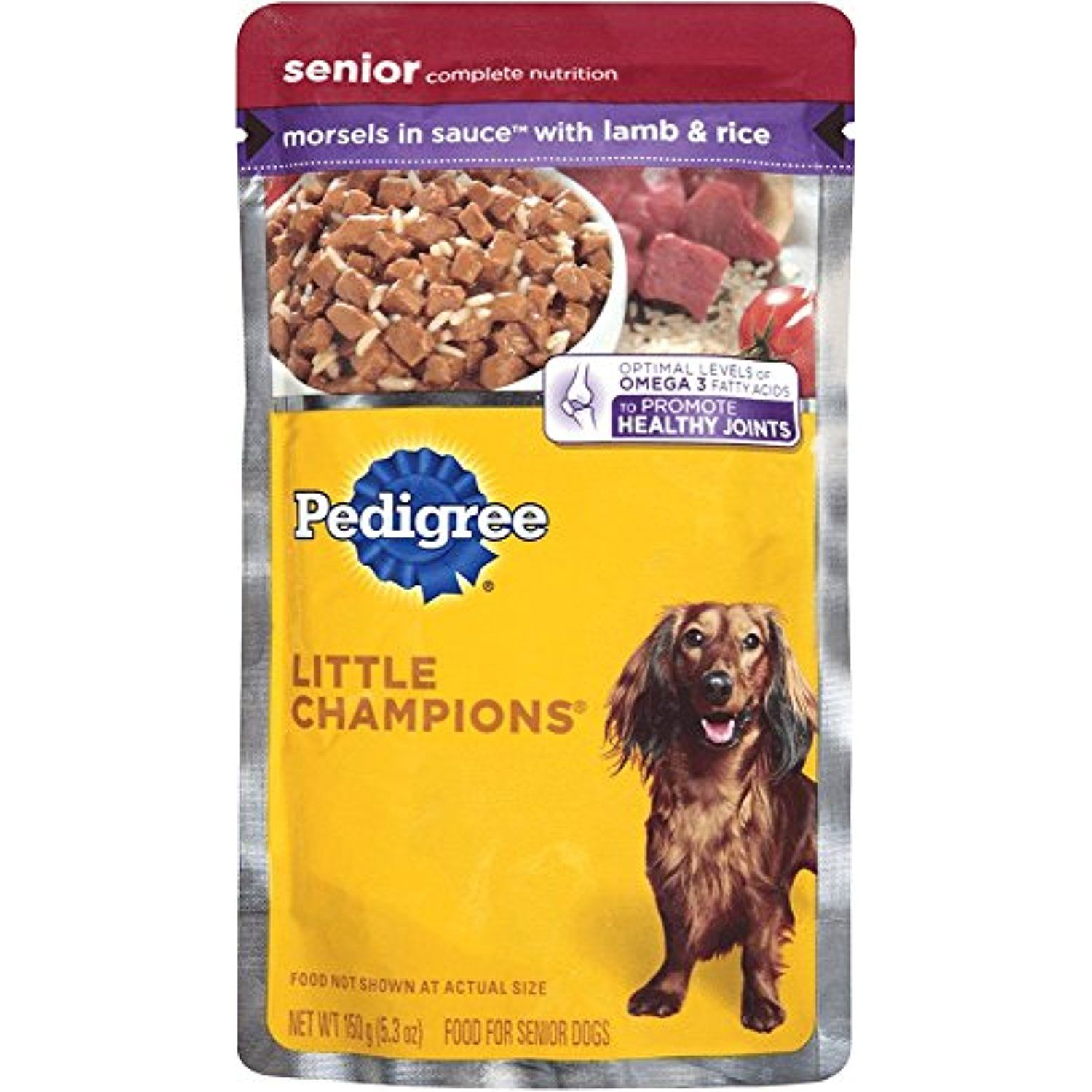 Pedigree Little Champions Senior Complete With Lamb And Rice Wet Dog Food 5 3 Ounces Pack Of 24 You Dog Food Recipes Best Dog Food Senior Dog Food Recipes