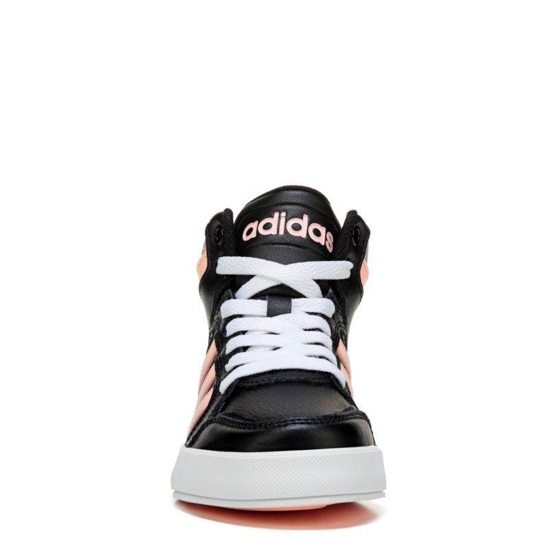 Adidas Kids Neo Raleigh High Top Sneaker Pre Grade School Shoes Black Pink 4 5 M Nike Free Shoes Dress Shoe Bag High Top Sneakers