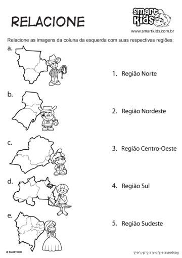 Regioes Brasileiras Relacione Atividades De Geografia
