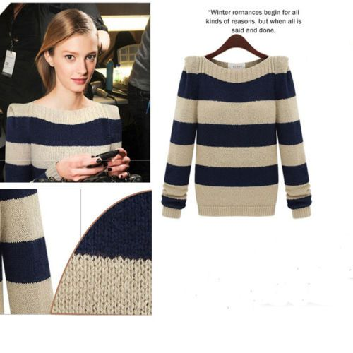 Women-Boat-Neck-Long-sleeve-Knitted-Pullover-Tops-Loose-Sweater-Knitwear-Jumper