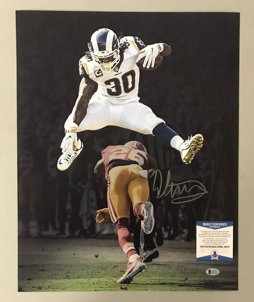 f443ec981 Todd Gurley Signed 16x20 Photo Autographed AUTO Beckett BAS WITNESSED COA  Rams