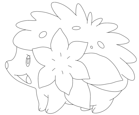 Shaymin in Land Form Coloring page | Pokemon coloring ...