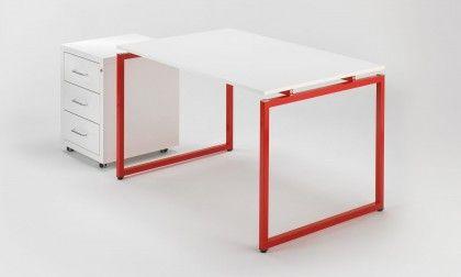 Scrivania Ufficio Rossa : Scrivania ufficio di design rossa quadrotto qs quadrotto