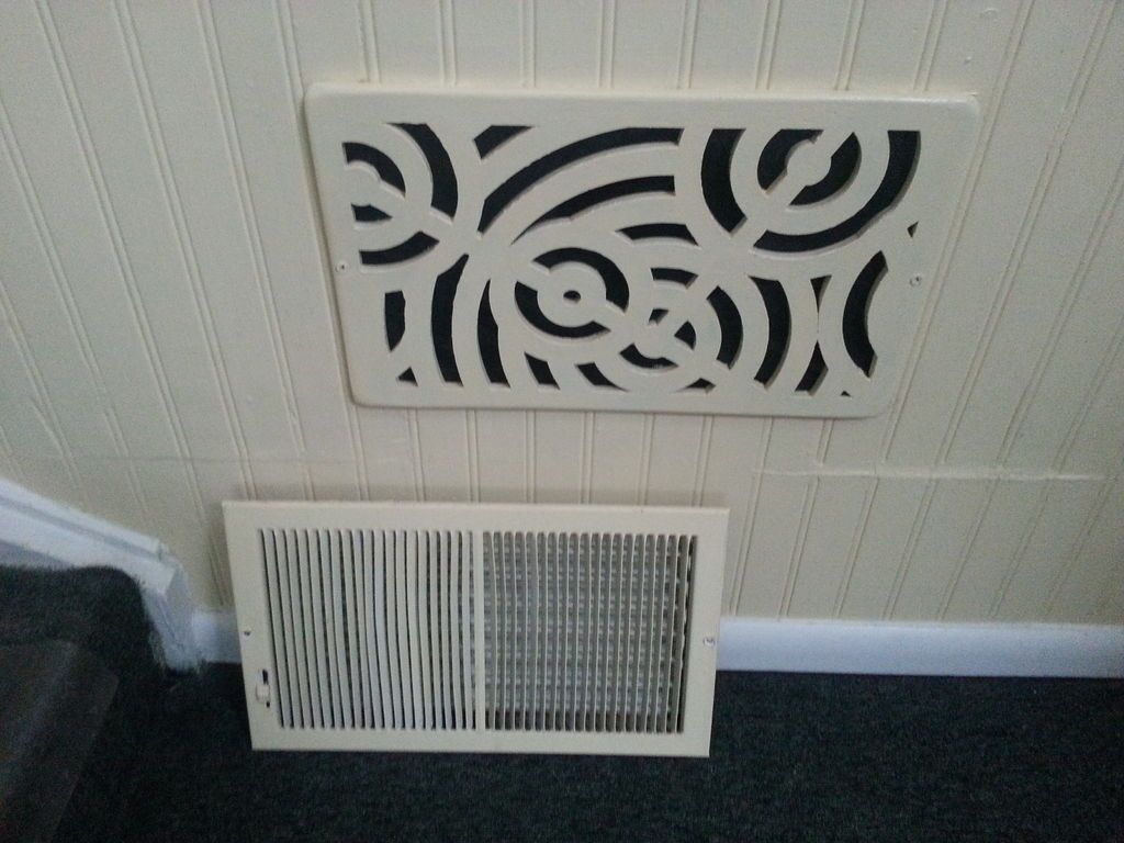 How to cut base molding around wall vent - Laser Cut Wall Vent Cover