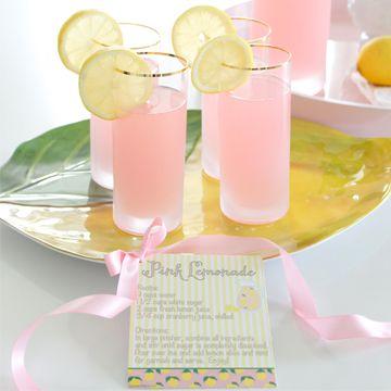 Homemade Pink Lemonade Recipe + Printable Recipe Card - Summer Adams #pinklemonade