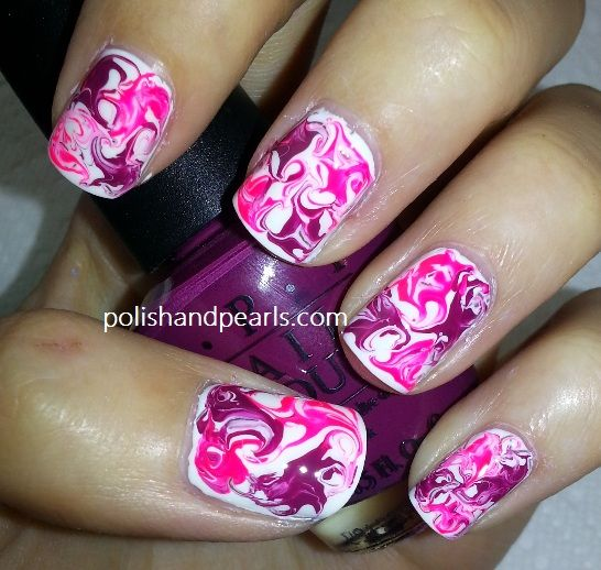 Crazy nail designs - Marble Nail Art Polishandpearls.com Beauty :) Pinterest Marble