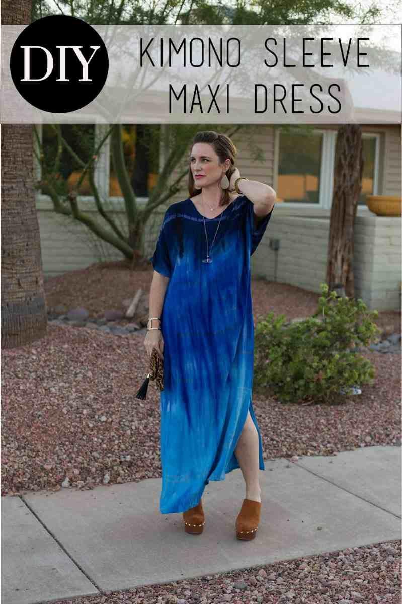 DIY Kimono Sleeve Maxi Dress -   17 DIY Clothes Projects maxi dresses ideas