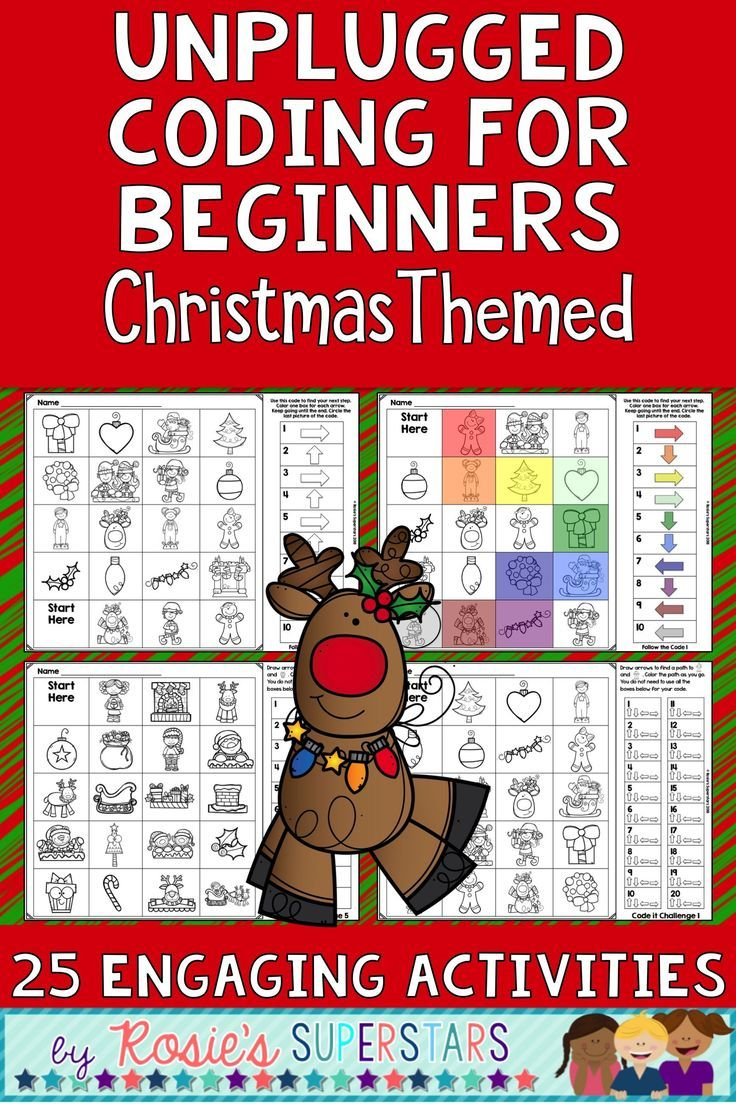 Christmas Unplugged Coding for Beginners Great for Hour of