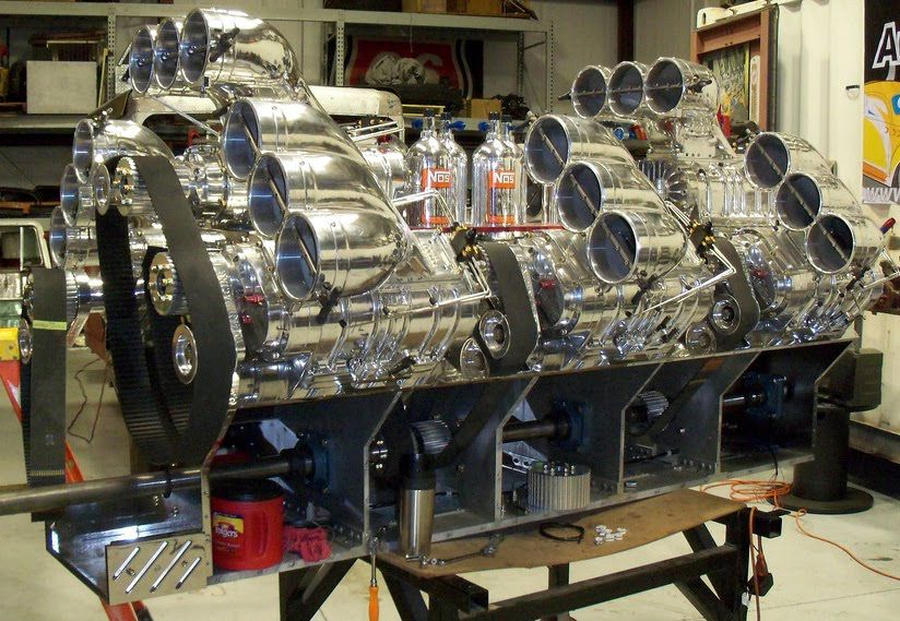 v24 engine 24 butterflies 8 blowers and makes 3400 hp worth of rh pinterest com W12 Engine Lamborghini V12 Engine