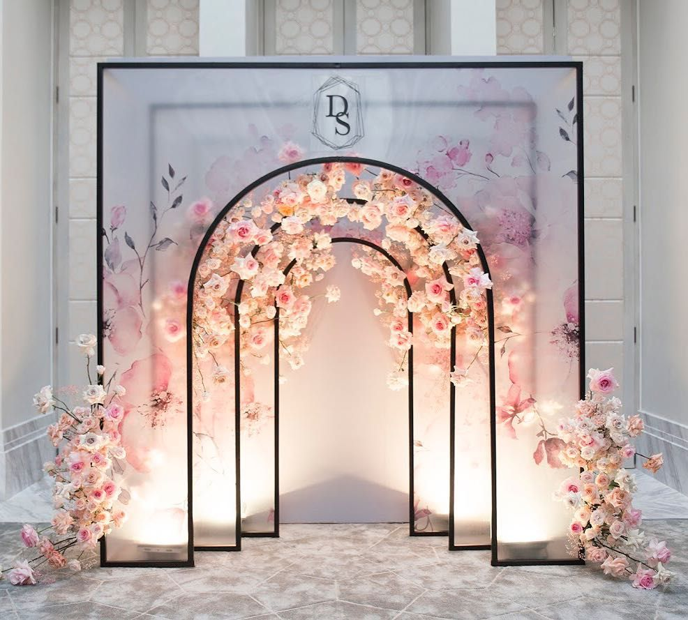 Royal Swans Luxury Event On Instagram Photo Backdrop With Some