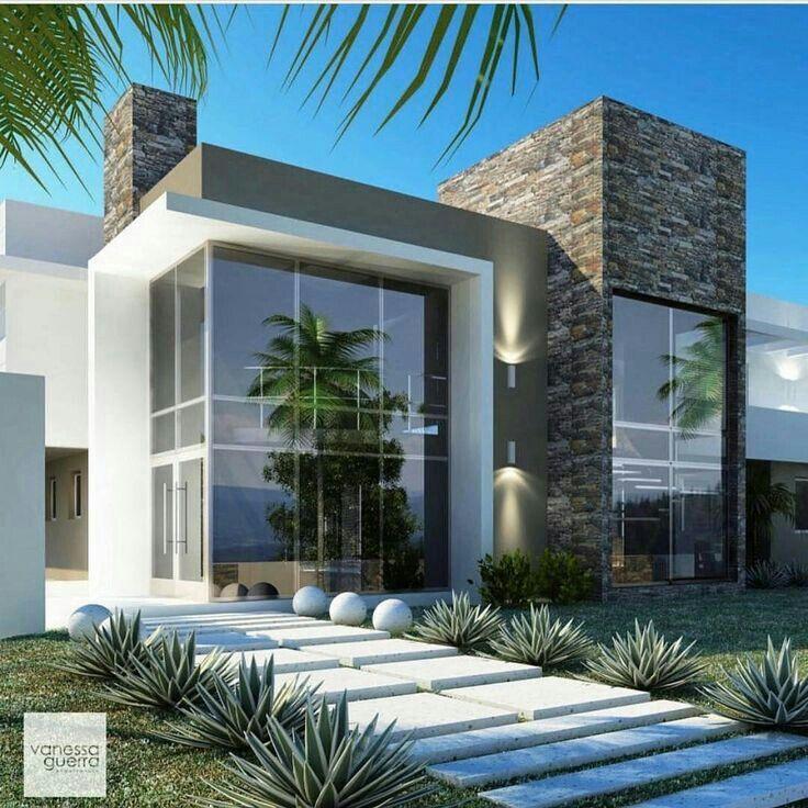 Pin de javier de carlini en fachadas casas casas for Casas modernas interior y exterior