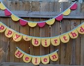 Your Custom Happy Birthday Garland. $37.00, via Etsy.