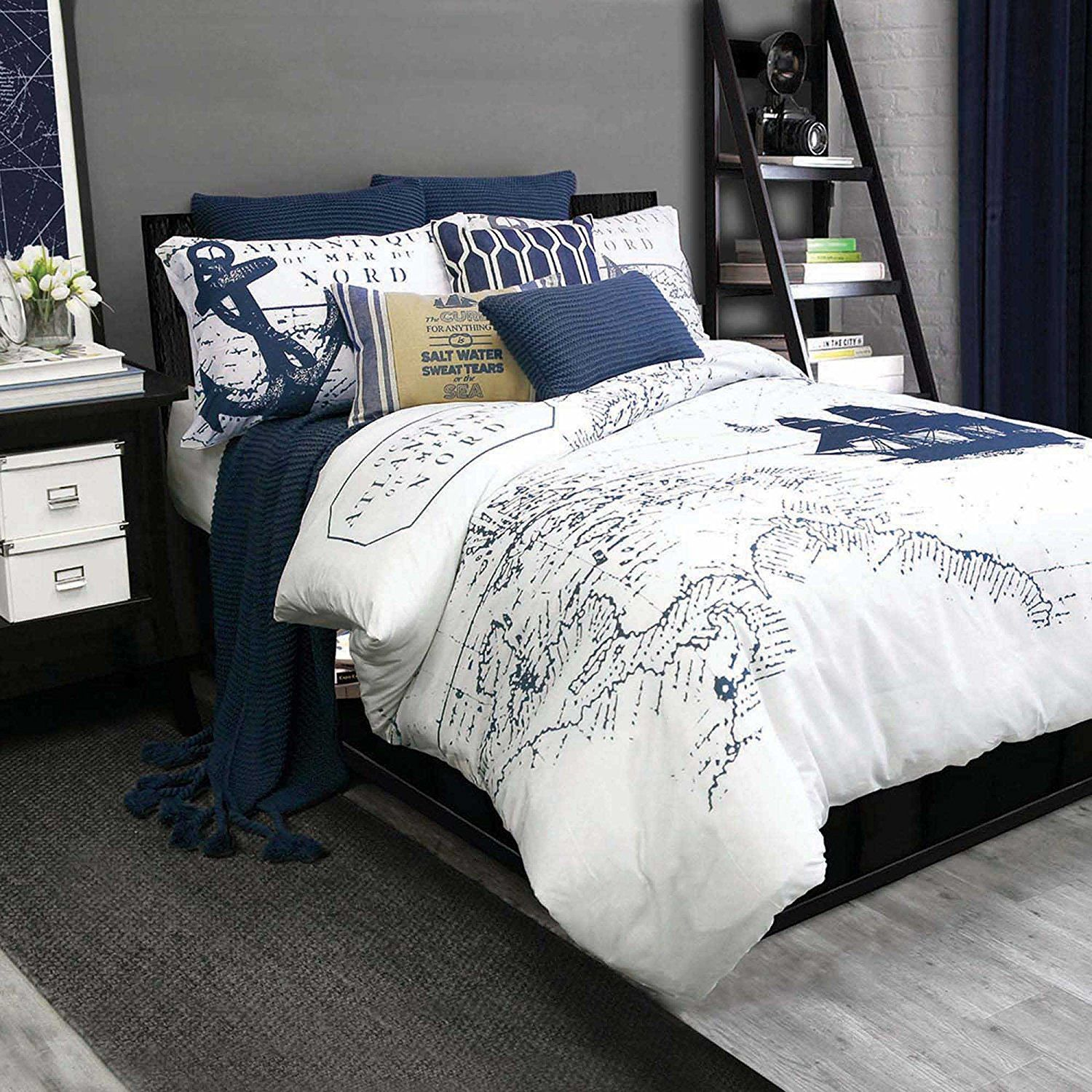 Love This Nautical Map Bedding  Classic And Themed But