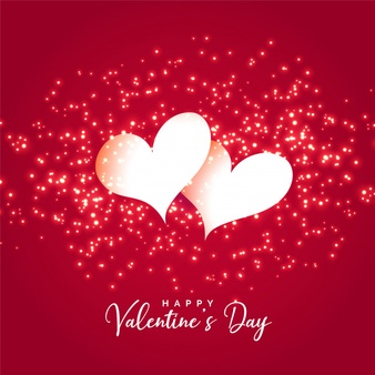 Download Two Hearts With Sparkles Background For Valentines Day For Free In 2020 Valentines Wallpaper Valentines Day Background Valentines