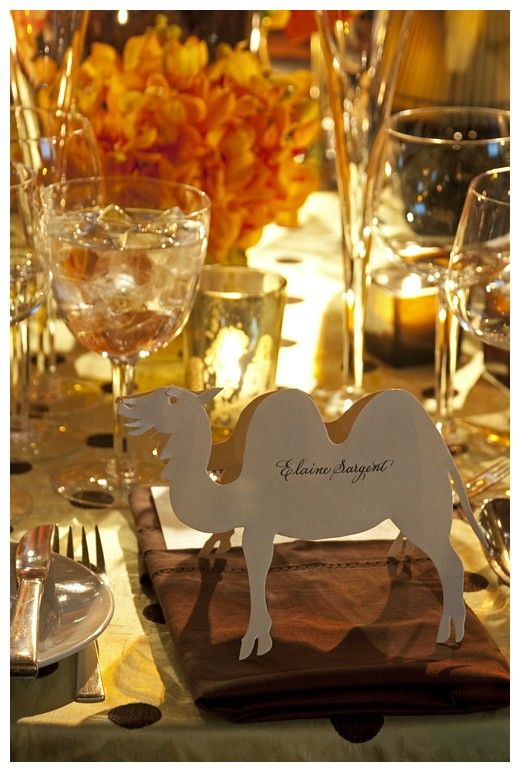 paper animal table place cards... I'm going to do this for my wedding but in cute animal shapes