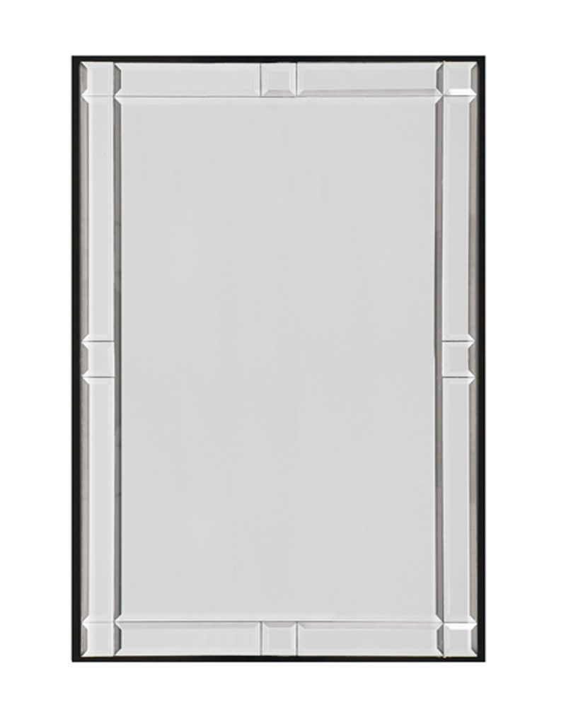 """WENGE W/ BEVELED MIRROR PANELS"""" Overall size 25 X 37  Majestic Mirror"""
