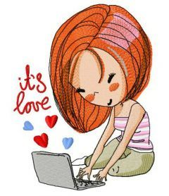 It's love 2 machine embroidery design. Machine embroidery design. www.embroideres.com