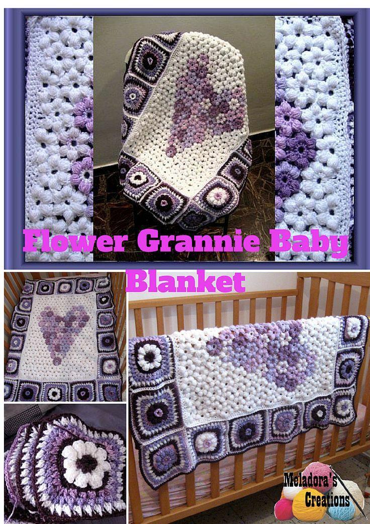 Meladora\'s Creations – Flower Afghan & Grannies Crochet Pattern ...