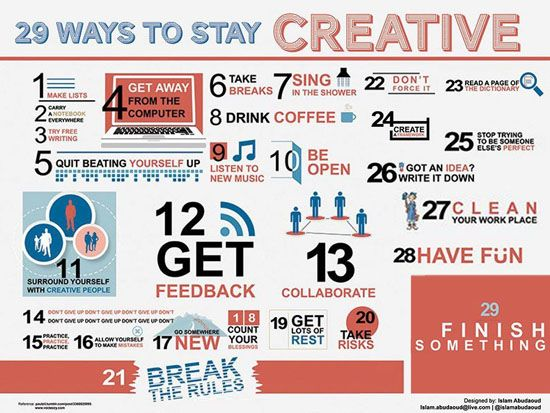 29 Ways to Stay Creative | Wordless Wednesday #WW | Panduan Blogger