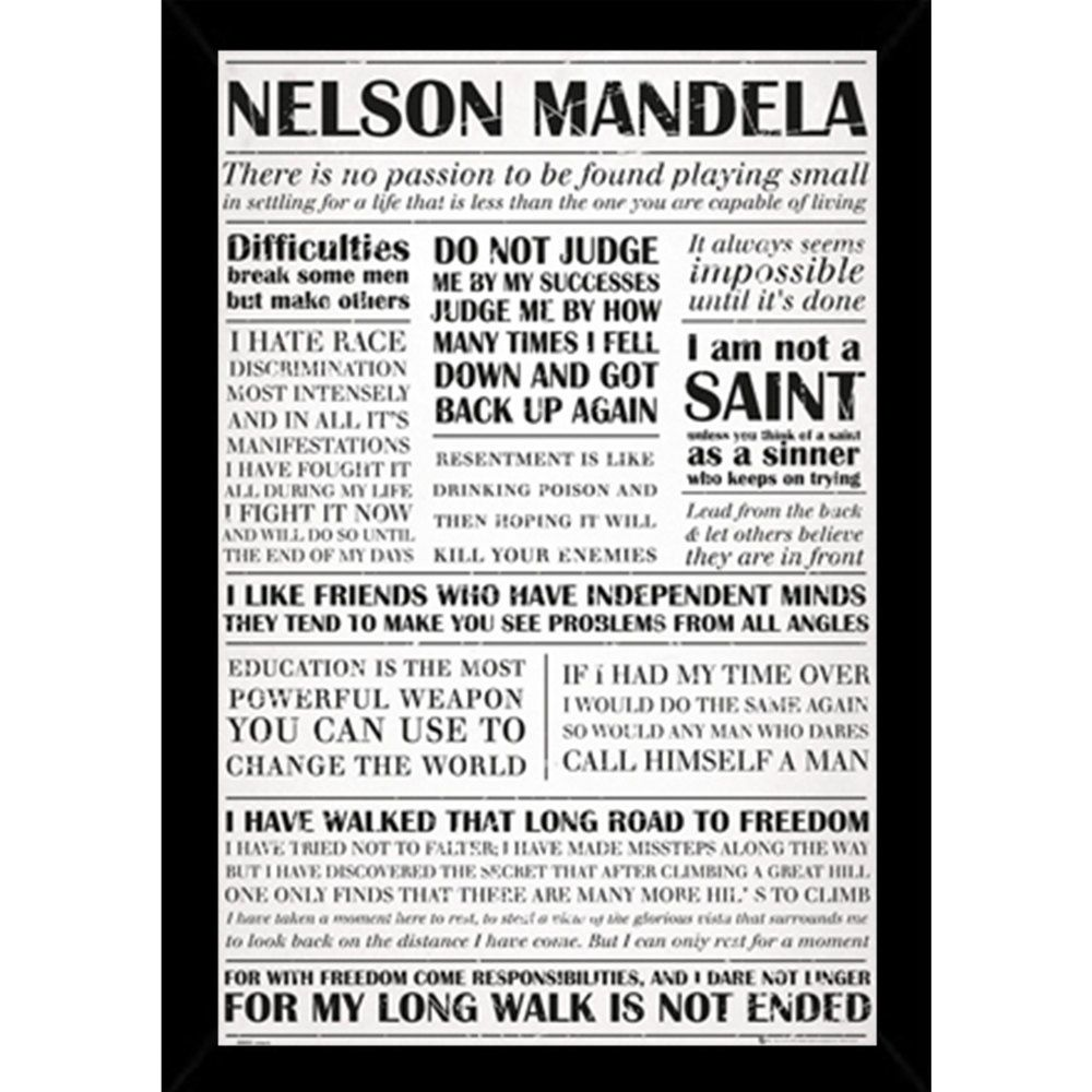 Nelson Mandela Quotes Poster (24-inch x 36-inch) with Contemporary ...