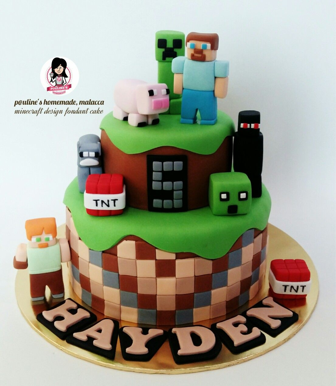 Edible Minecraft Cake Decorations