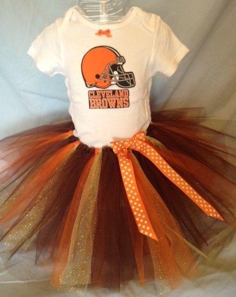5548818f NFL Cleveland Browns Tutu Dress Ballet Cheer Baby Girl 0-3 thru 18 ...