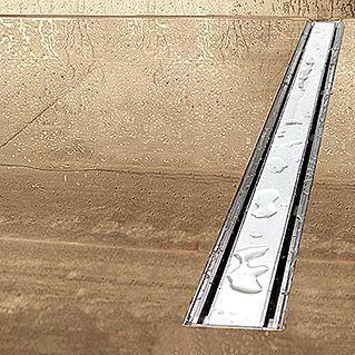 Camargue Duschrinne (Weiß, Material Rost: ESG-Glas, 70 cm)