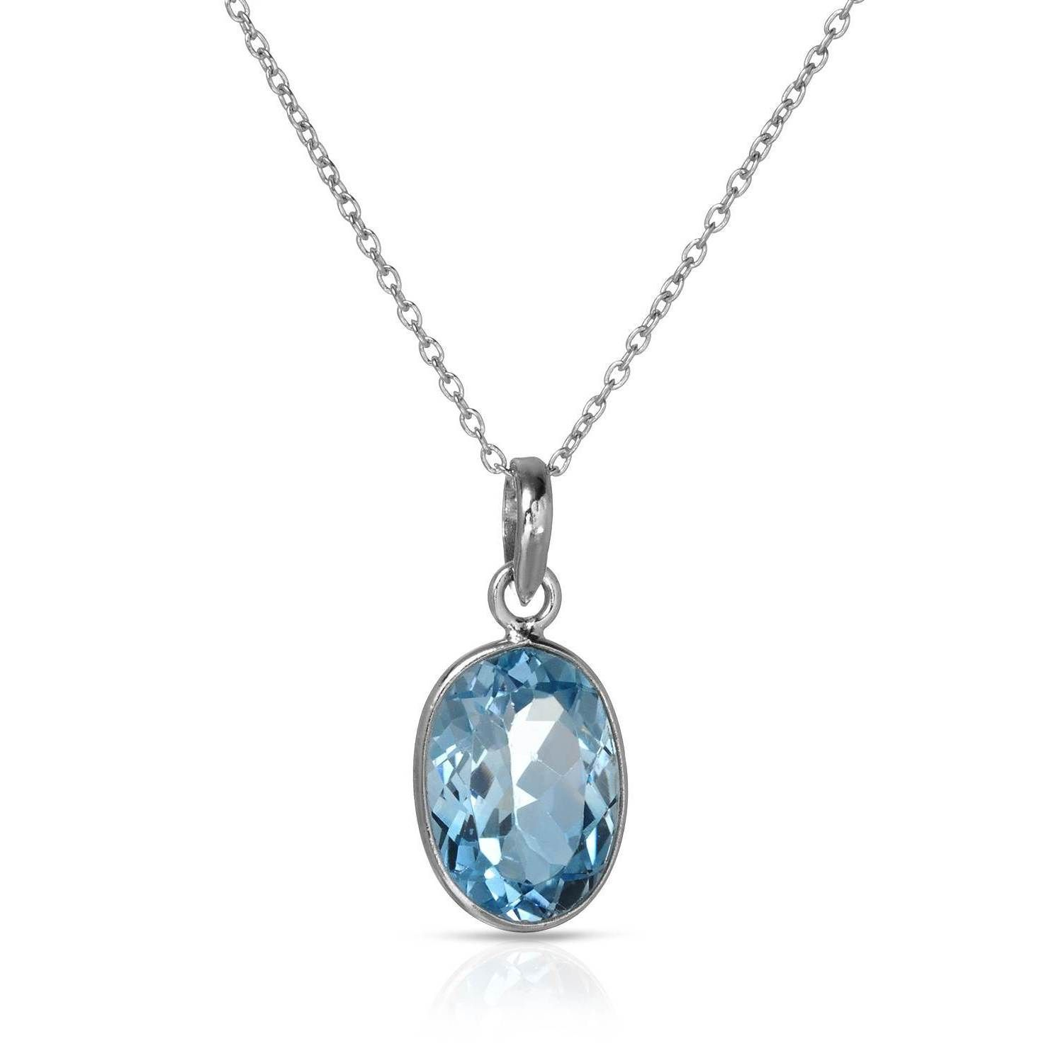 Sterling 6 1/2ct TW Topaz Necklace, Women's