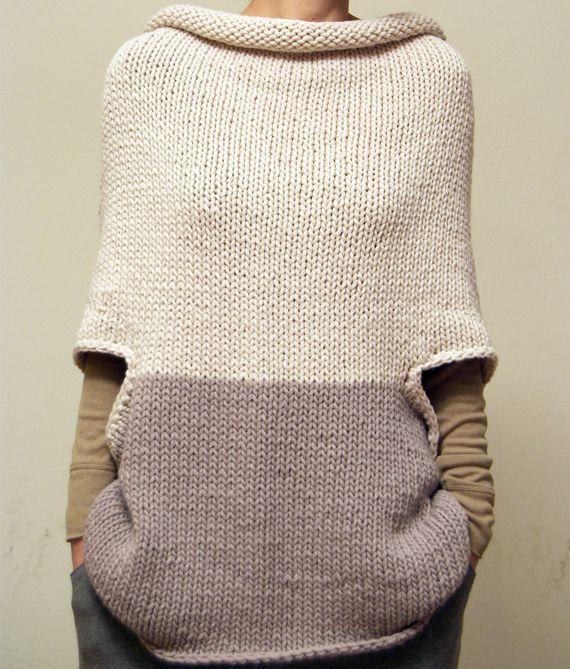 Capelet tunic | вязание | Pinterest | Tejido, Nuevas y Ponchos