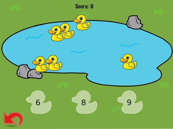 Screen of the Mathematics game: Count Duck
