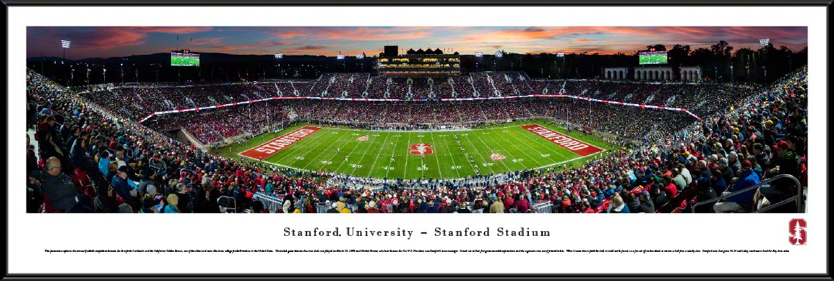 Stanford Football 50 Yard Line Panorama Framed Print College Football Gs Made In The Usa Ncaa So Panoramic Print Panoramic Pictures Stanford Football