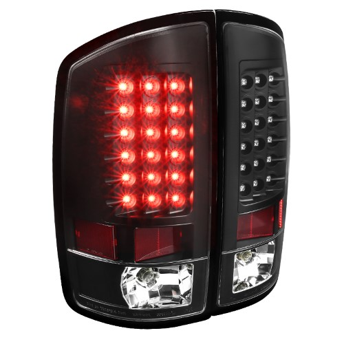 For 09-18 Dodge RAM 1500//2500//3500 LED Tail Lights Lamps Left+Right Smoked Lens