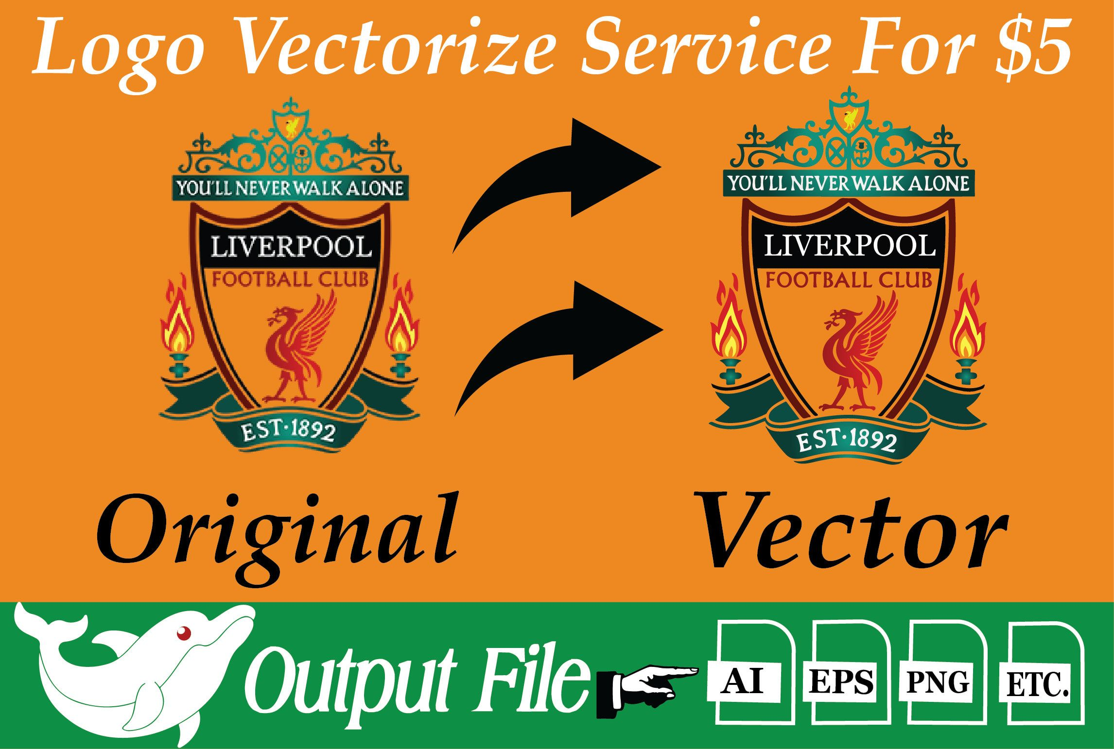 Turn your drawing or logo into a vector hi res image ...