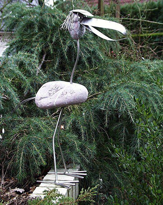 Freddy stehend Lustige Edelstahlfigur Gartenfigur und Gartendeko - gartendeko aus stein und metall