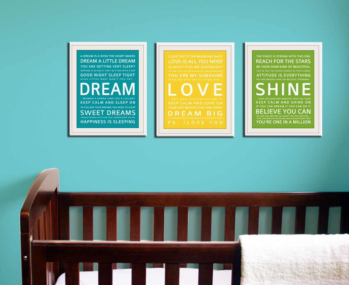 Color art tipografia - Baby Room Wall Color One Or One And A Half Walls