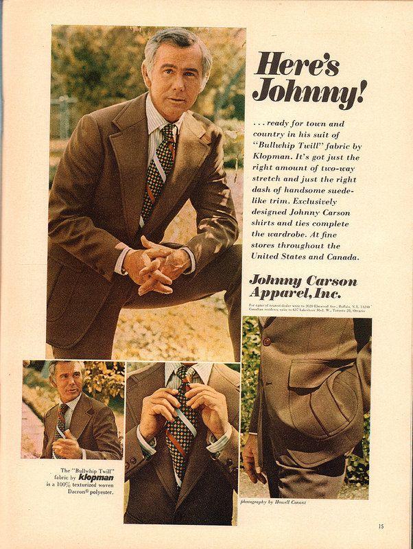 1973 Johnny Carson Apparel Advertisement Playboy November 1973   by SenseiAlan