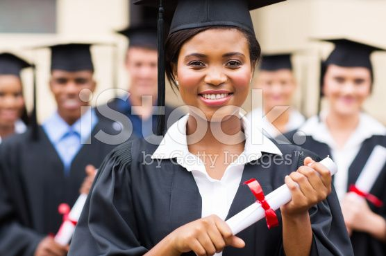 confident african american female graduate royalty-free stock photo