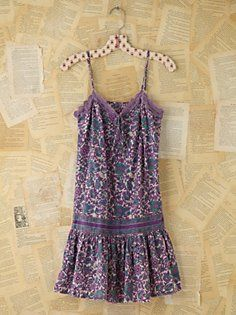 Vintage Floral Print Tank Dress in Vintage-Loves-follow-the-music