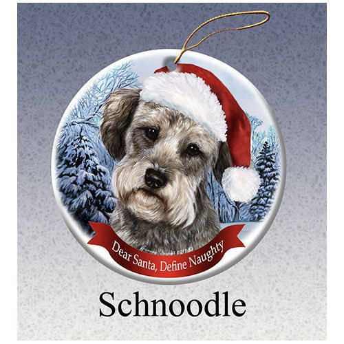 Schnoodle Howliday Dog Christmas Ornament Schnoodles Pinterest