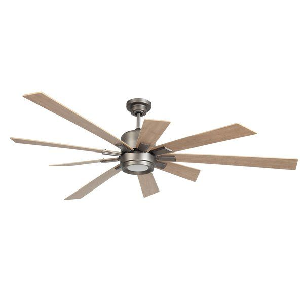 72 Birney 9 Blade Led Standard Ceiling Fan With Remote Control And Light Kit Included Ceiling Fan 72 Ceiling Fan Led Ceiling Fan