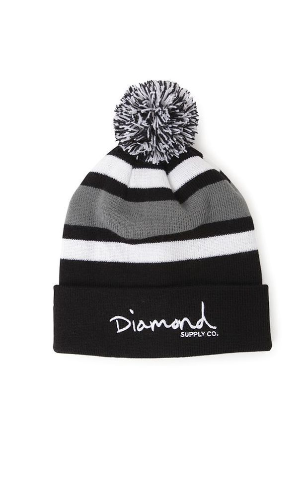 ac803c1e55b Diamond Supply Co OG Script Pom Beanie - Mens Hats - Black - One ...