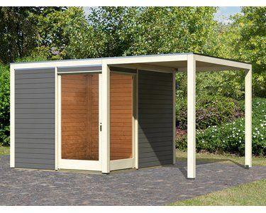 Karibu Gartenhaus Cuatro Eck Terragrau BxT 502 x 304 cm