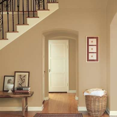Warm butterscotch dunn edwards paint wall coverings for Neutral paint colors for interior walls